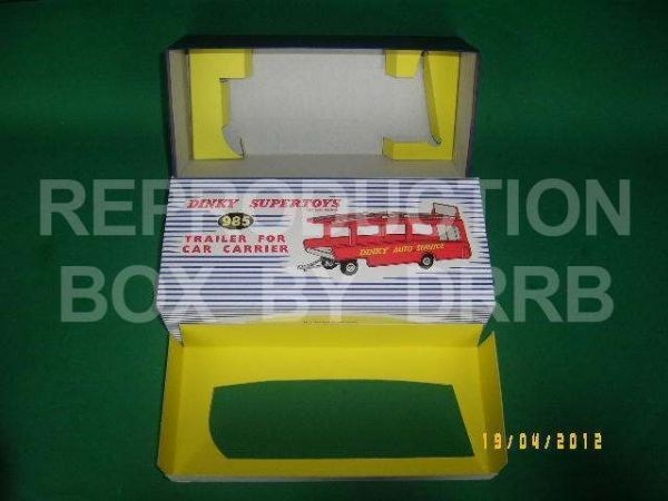 Dinky #985 Trailer for Car Carrier - Reproduction Box